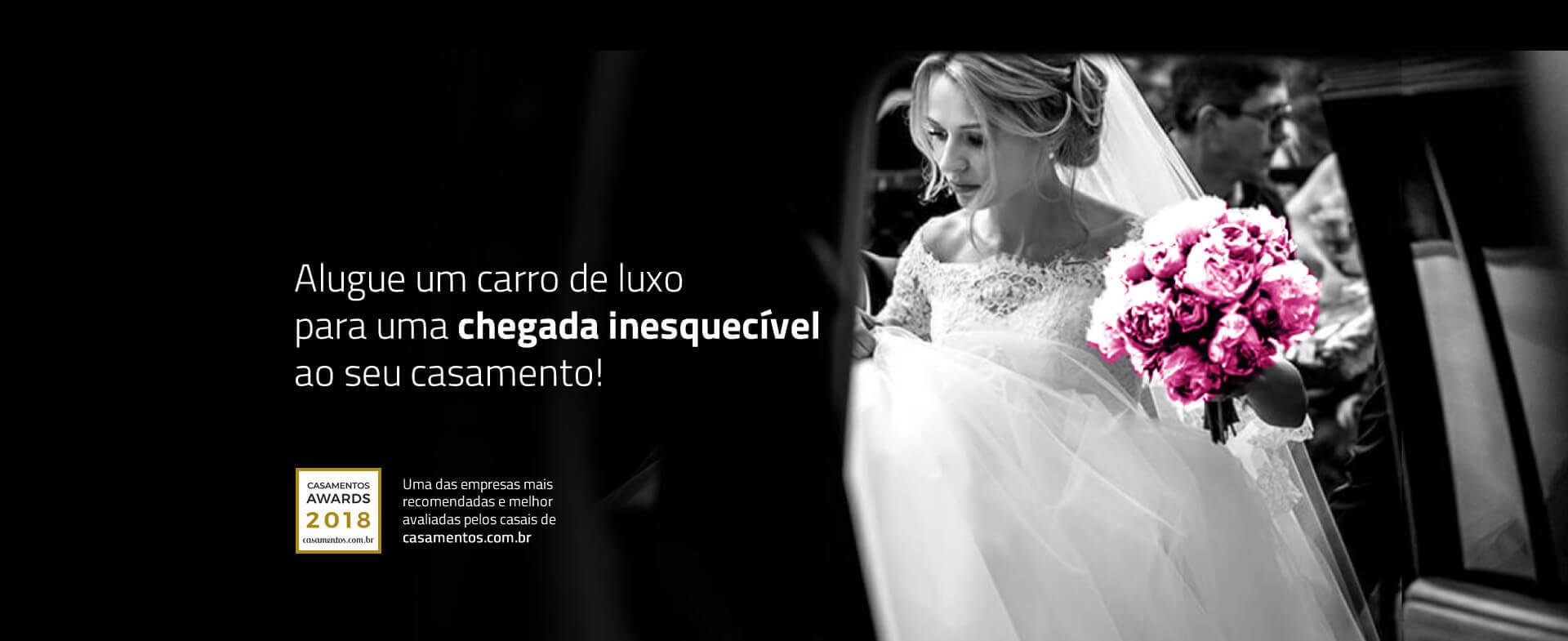 Alugue um carro de luxo para uma chegada inesquecível ao seu casamento!